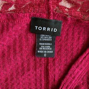 torrid Tops - Torrid waffle knit high low top